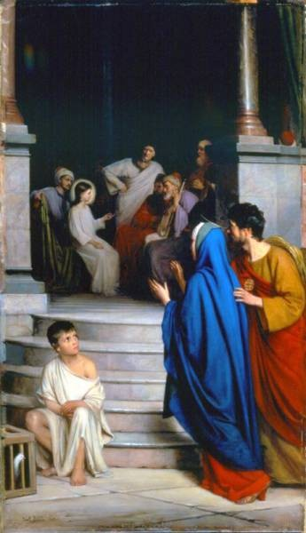Carl Heinrich Bloch Christ Teaching at the Temple